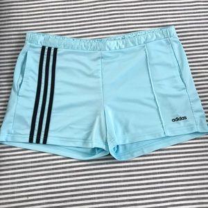 Powder Blue Adidas Shorts
